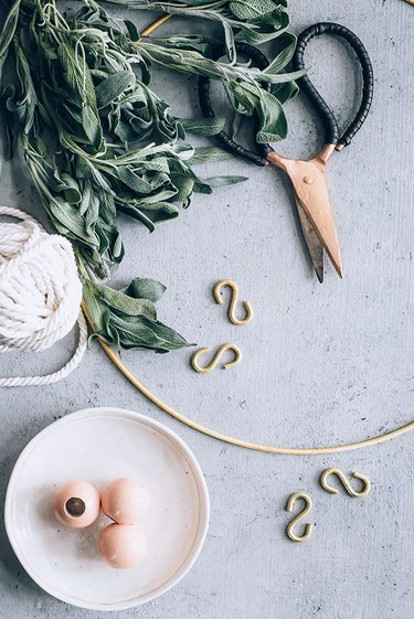 Supplies for DIY Herb Drying Rack