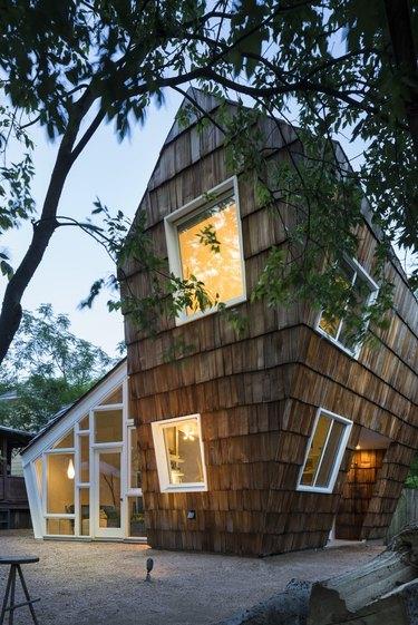 asymmetrical guest house