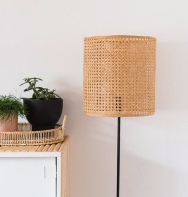 The most simple floor lamp can be turned into something sassy.