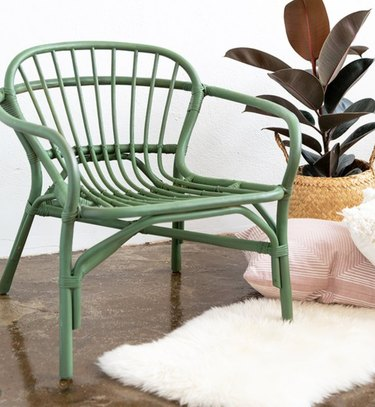 Update a rattan chair with a splash of color.