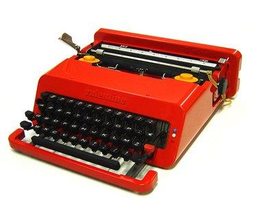 Sottsass-designed Olivetti Valentine typewriter, 1969.