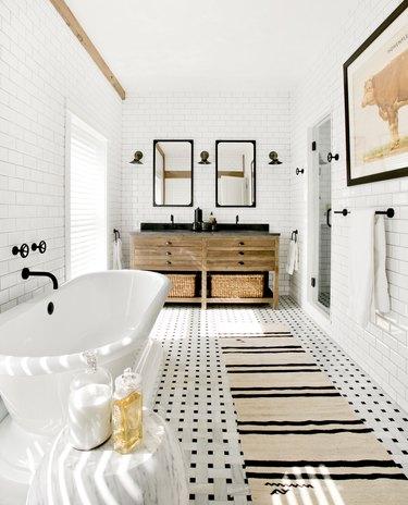 Ultra modern farmhouse bathroom