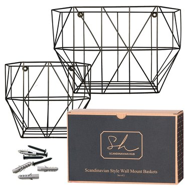 Scandinavian Hub Wall-Mount Baskets, $32.95