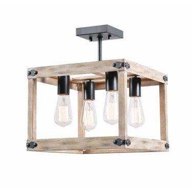 wood grain flush mount