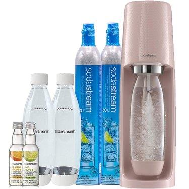 SodaStream Fizzi Sparkling Water Maker Bundle in Pink