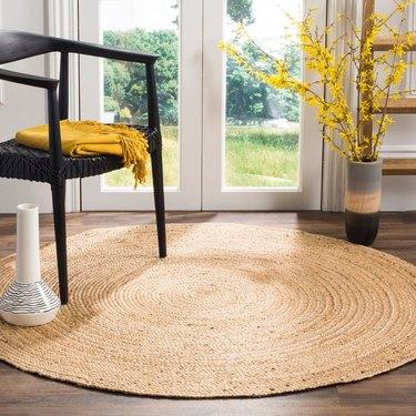 braided sisal jute round area rug