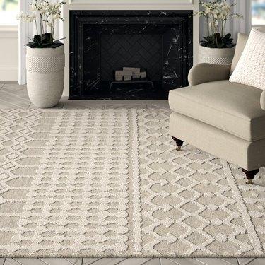 hand tufted natural carpet