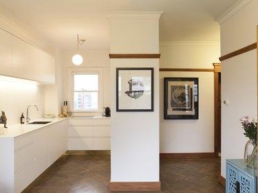 small, open kitchen