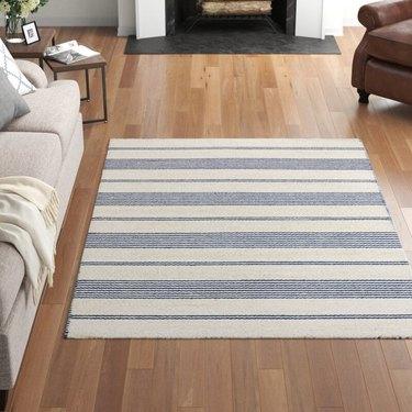 soft striped rug