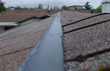 Zinc strip on roof.