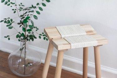 IKEA hack woven rope stool