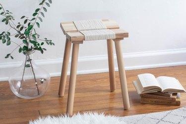 IKEA woven stool hack