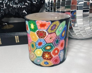 psychedelic wax candle
