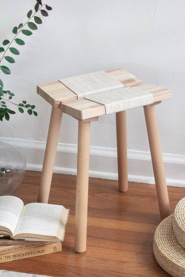 DIY woven rope stool