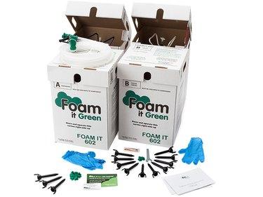 Spray foam insulation kit.