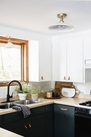 Semi-flush mount small kitchen lighting