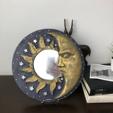 90s celestial sun moon mirror