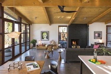 midcentury fireplace