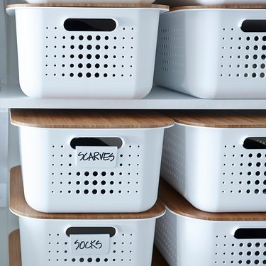 The Container Store White Nordic Storage Baskets