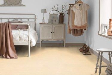 Bedroom with linoleum flooring