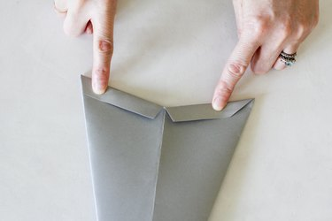Folding flaps on paper star