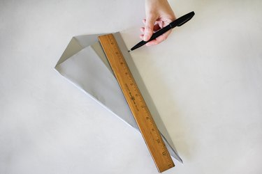 Marking 2 inches on paper