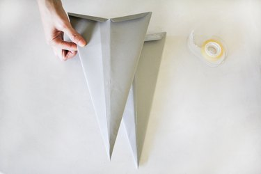 Taping star pieces together