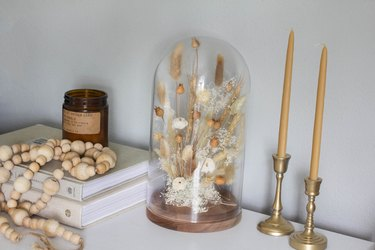 DIY dried floral dome