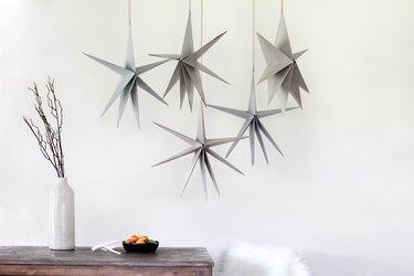 DIY Scandinavian holiday paper stars