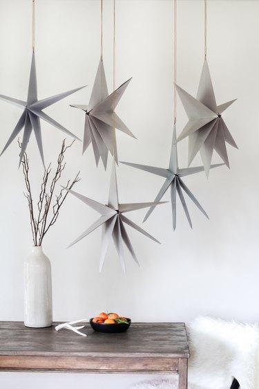 DIY Scandinavian Christmas paper star