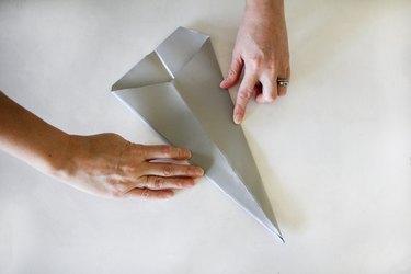 Folding paper to make Christmas star