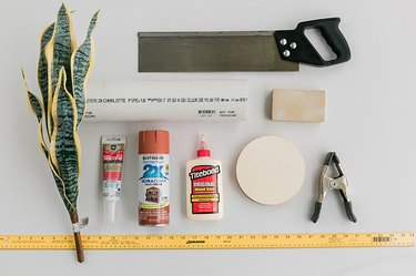 Here's what you'll need to make your DIY Minimalist Faux Terracotta Vase.