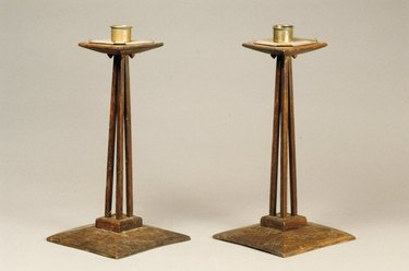 arts and crafts candle holders