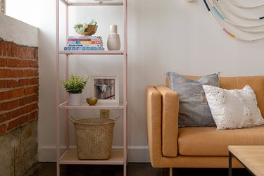 IKEA metal shelf  in living room