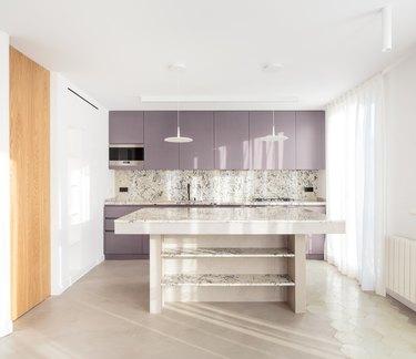 lavender purple kitchen cabinets