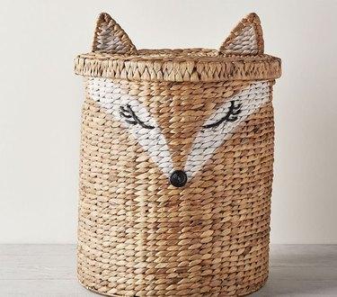 A woven fox basket