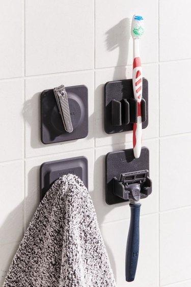 damage free shower storage