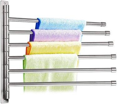 rotating wall mounted towel rack