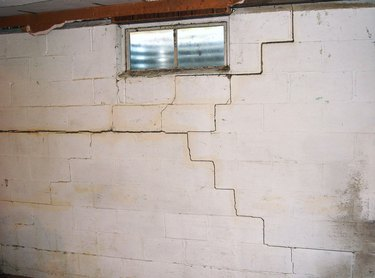 Seriously cracked foundation wall.