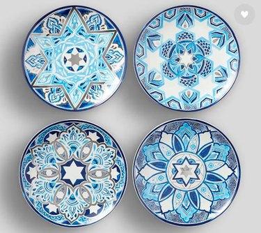 hanukkah mosaic plates