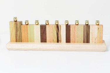 wood menorah