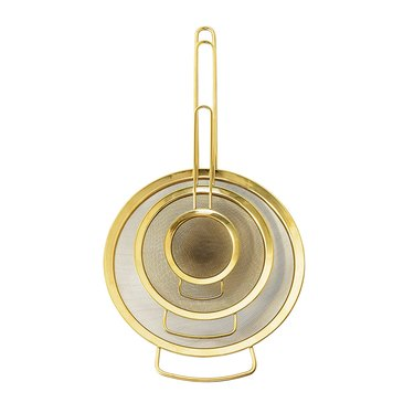gold strainers