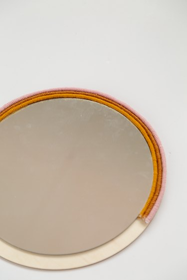 DIY Wrapped Rope Circle Mirror