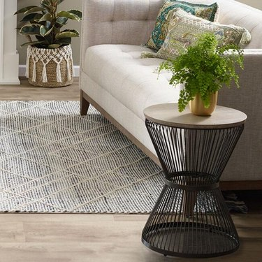 farmhouse end table idea round side table with metal base