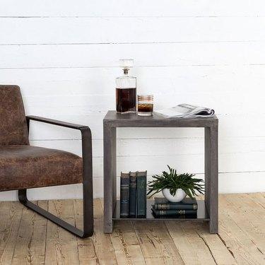 farmhouse end table idea concrete end table
