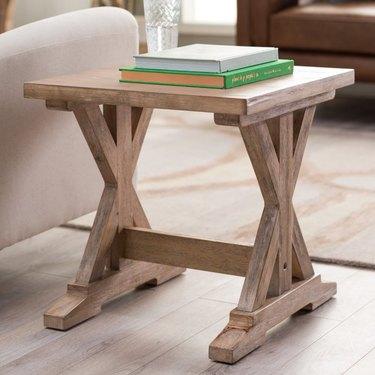 farmhouse end table idea trestle end table