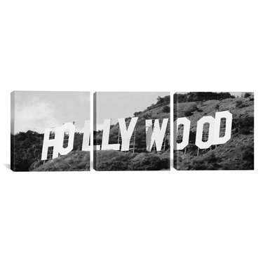 black and white 3-piece Hollywood print