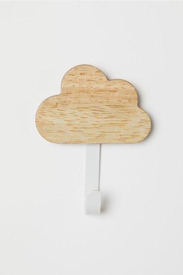 wood and metal cloud hook for nursery
