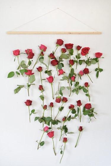 DIY Floral Wall Hanging