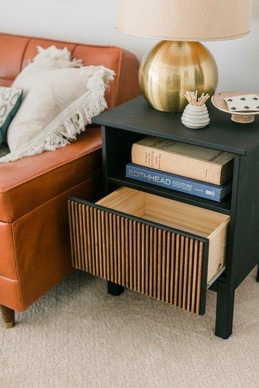 Allow the side table to dry completely before handling or styling.